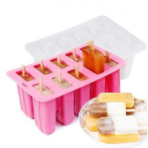 10 Grid Ice Cream Mold Silicone Ice Tray