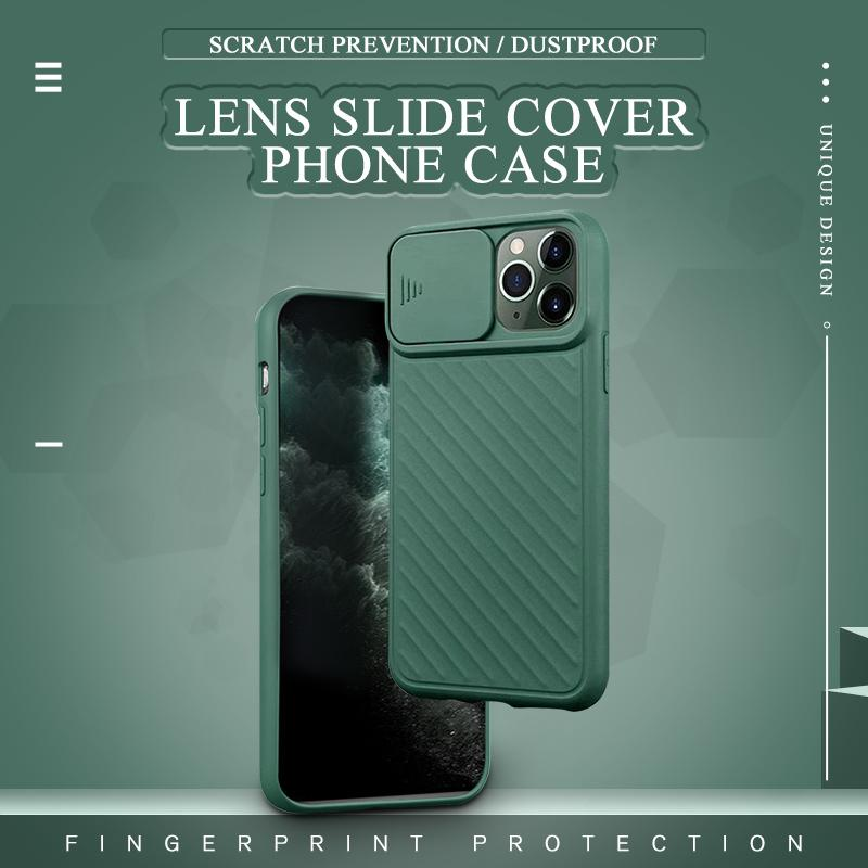 Lens slide cover phone case