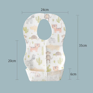 Infant Waterproof Disposable Bibs (10PCS)