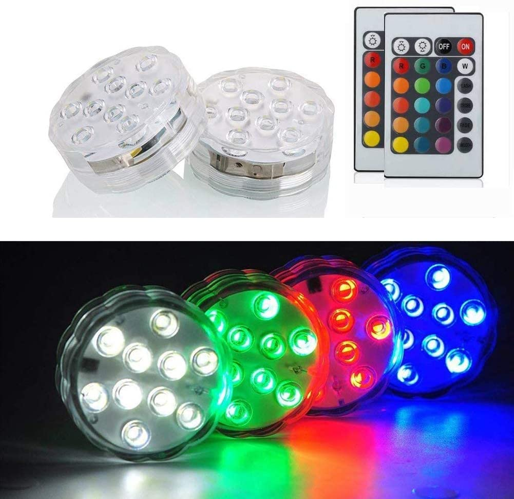 Multi-function Waterproof Remote Control Multi-color LED Light
