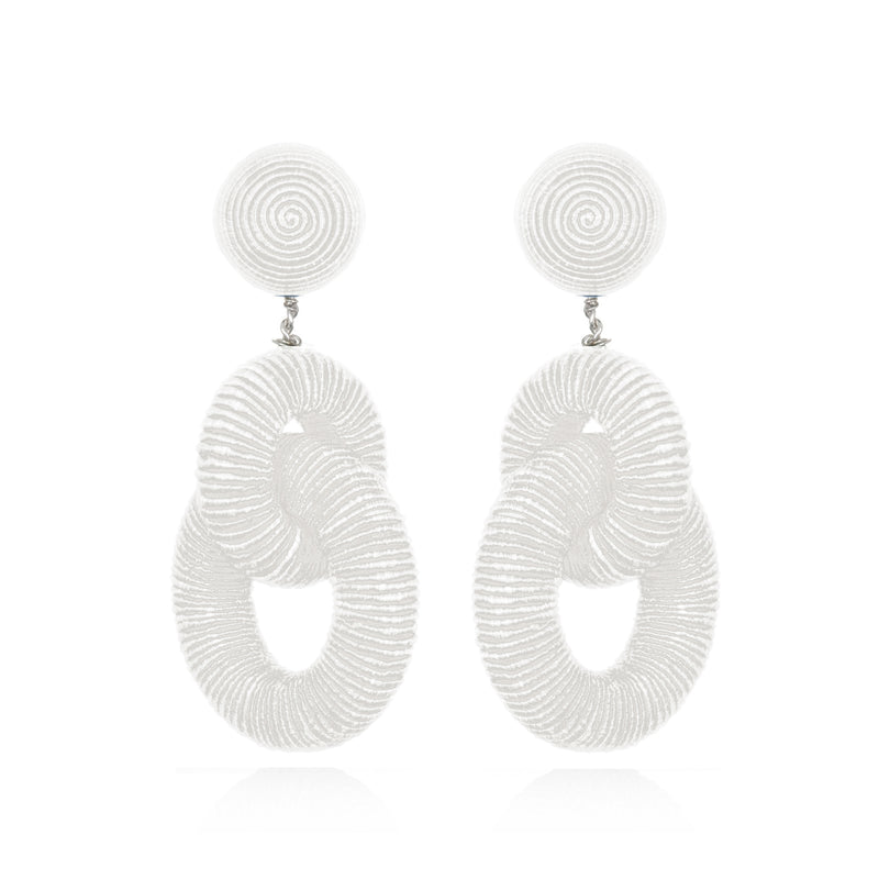 Silk Double Tiered Hoop Earrings - Suzanna Dai