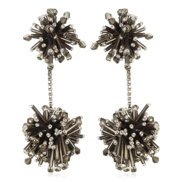 Lotus Fireburst Drop Earrings - Suzanna Dai