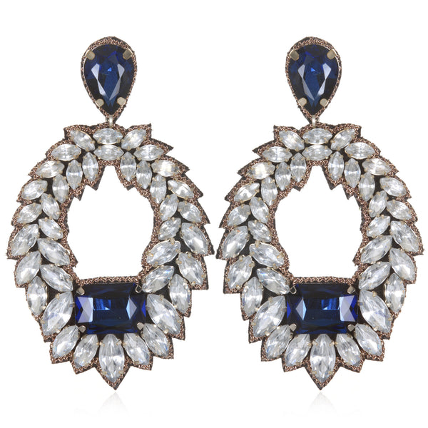 Victoria Jewel Hoop Earrings - Suzanna Dai