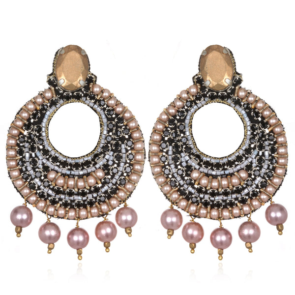 Victoria Pearl Hoop Earrings - Suzanna Dai