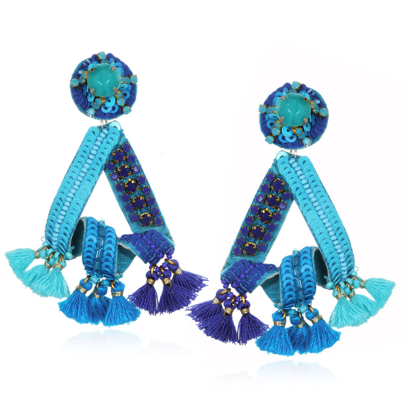 Cabo Looped Sequin Earrings - Suzanna Dai