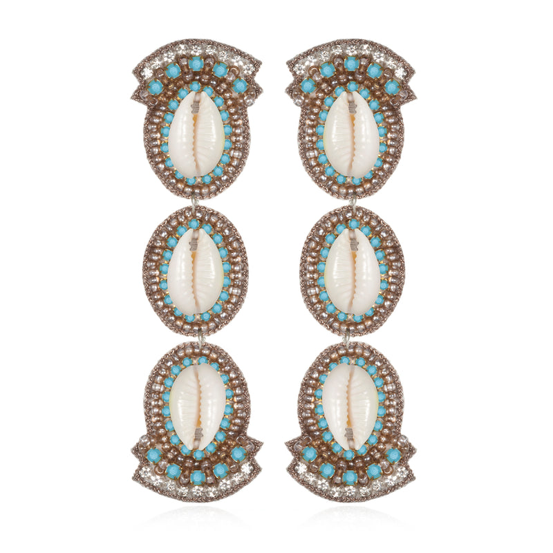 Puka Shell Drop Earrings - Suzanna Dai