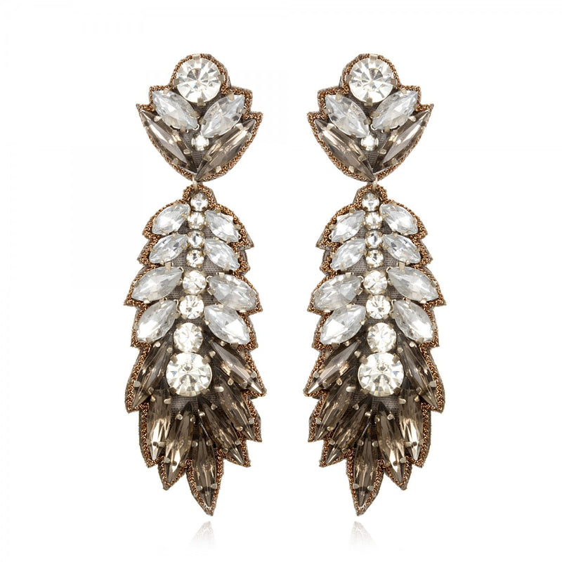 Borghese Feather Drop Earrings - Suzanna Dai
