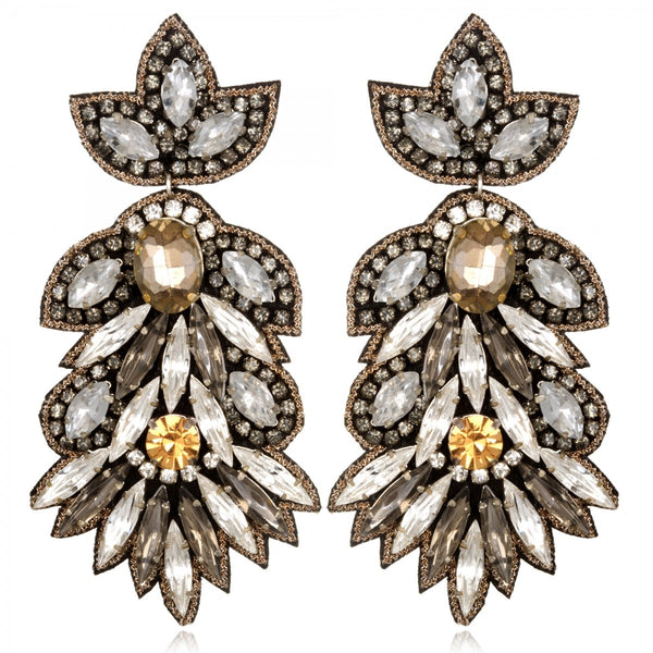 Borghese Large Drop Earrings - Suzanna Dai