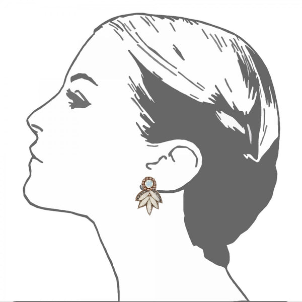 Montmartre Button Earrings - Suzanna Dai