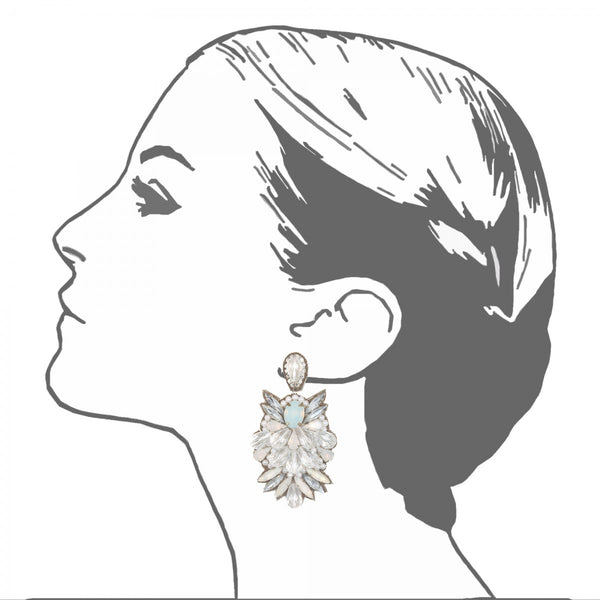 Tuileries Large Drop Earrings - Suzanna Dai