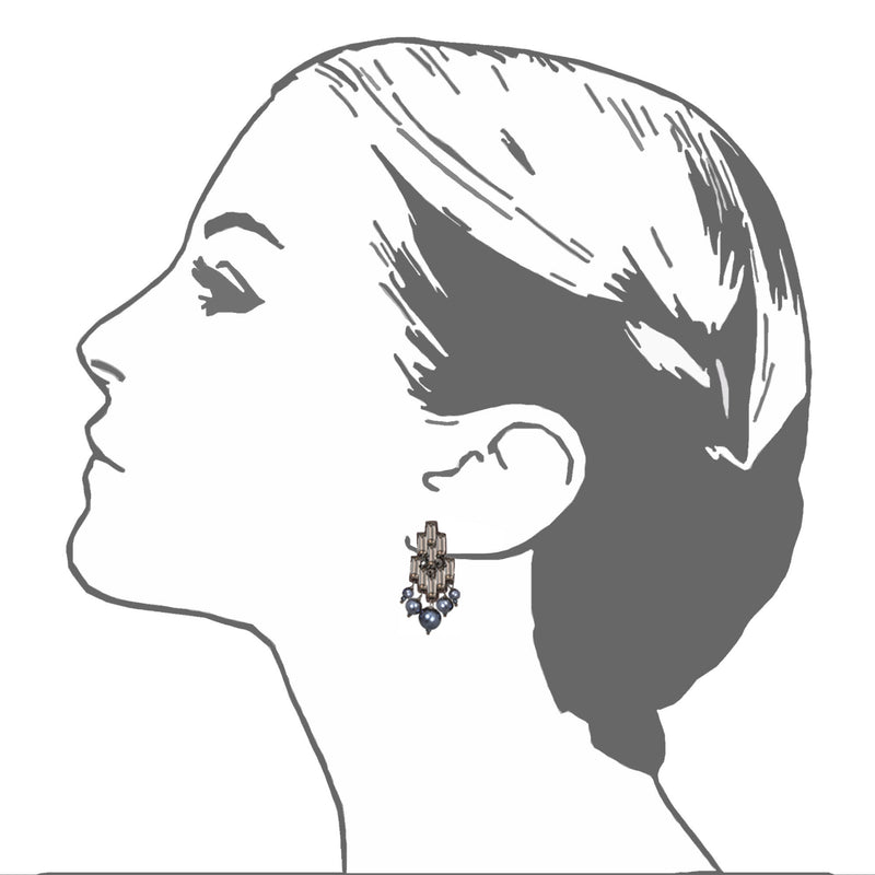 Alexandra Button Earrings - Suzanna Dai