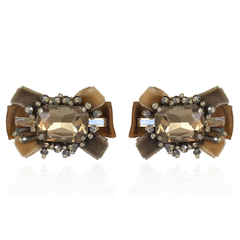 Antoinette Button Earrings - Suzanna Dai