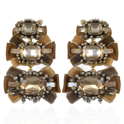 Antoinette Large Drop Earrings - Suzanna Dai