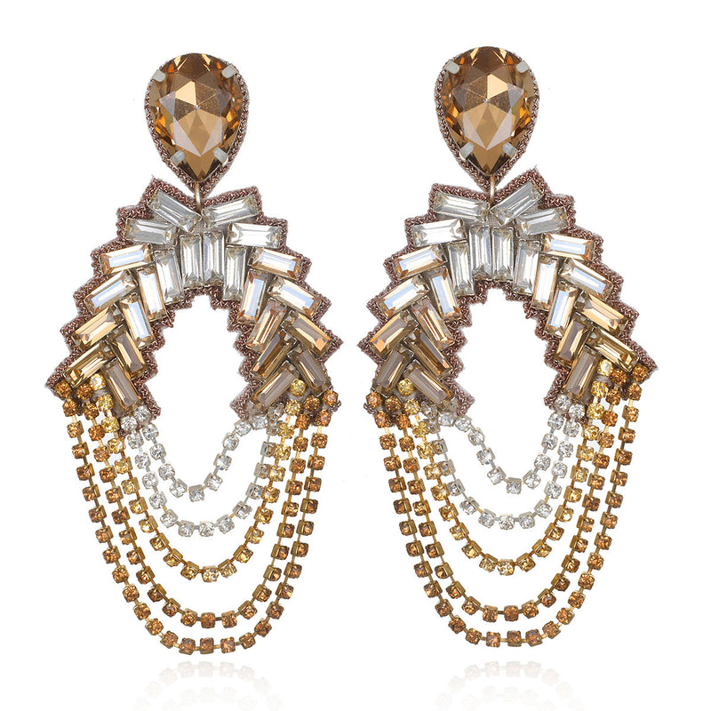 Florian Chandelier Hoop Earrings - Suzanna Dai