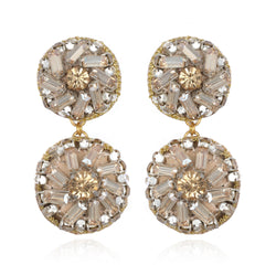 Florian Pinwheel Drop Earrings - Suzanna Dai