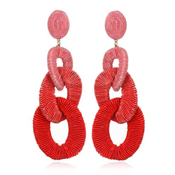 Algiers Silk Curb Chain Drop Earrings - Suzanna Dai