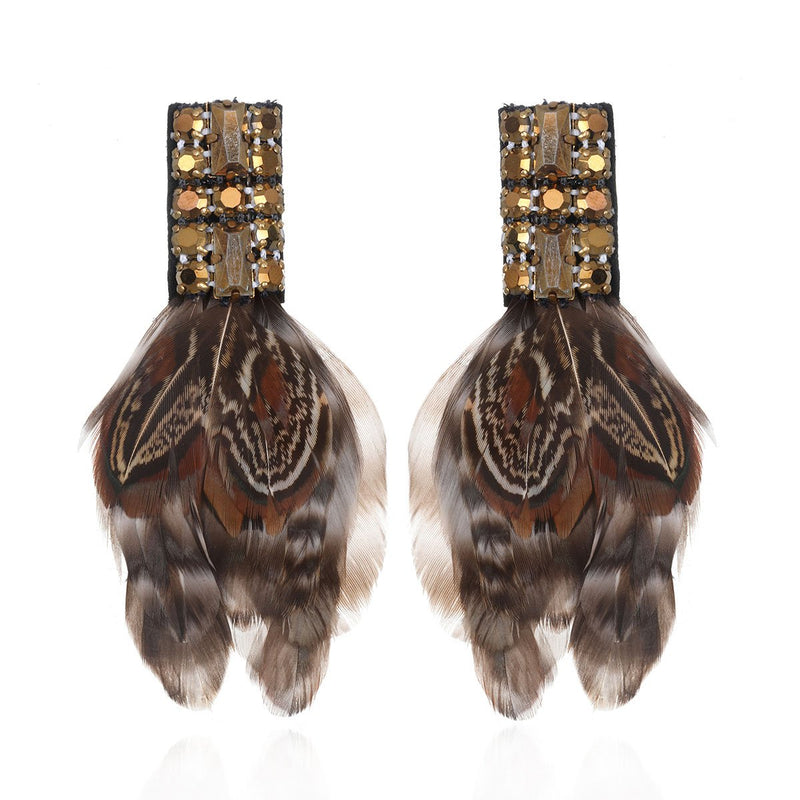 Amherst Deco Feather Earrings - Suzanna Dai