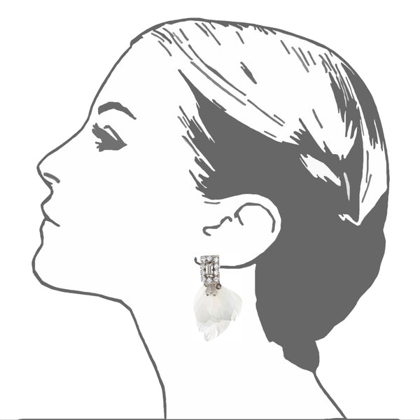 Amherst Small Deco Feather Earrings - Suzanna Dai