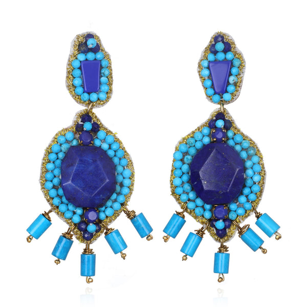 Mozambique Medium Drop Earrings