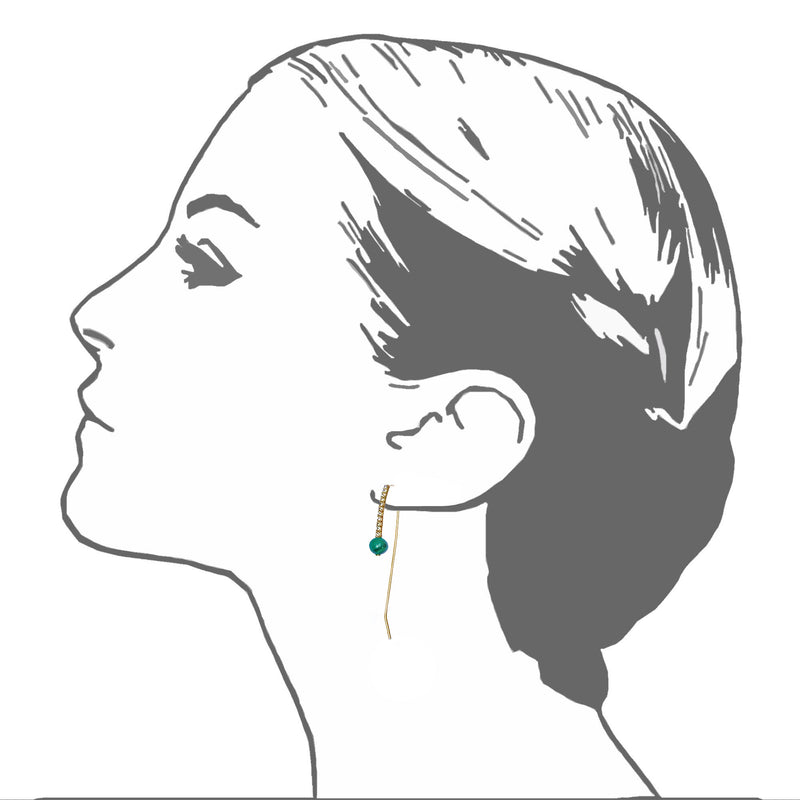 Luxor Threader Earrings