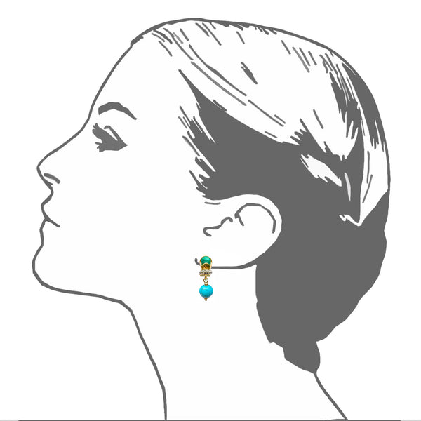 Luxor Scarab Bauble Earrings