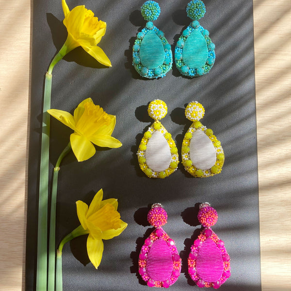 Marguerite Teardrop Earrings