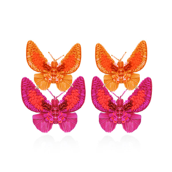 Butterfly Small Drop Earrings - Suzanna Dai