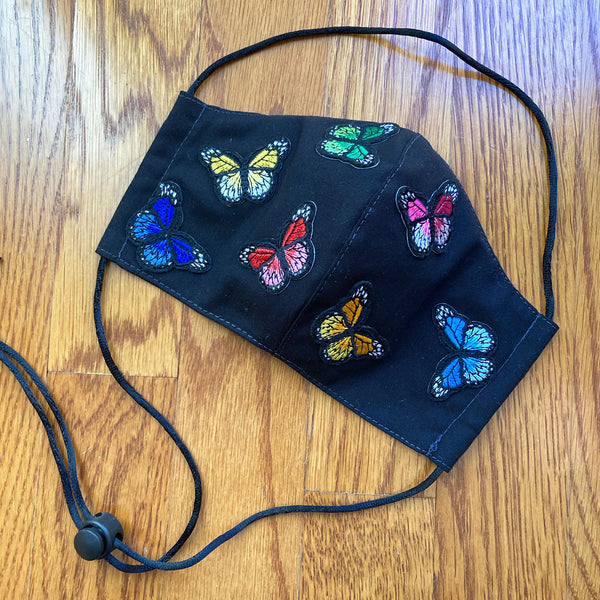 Woman's Embroidered Applique Face Mask