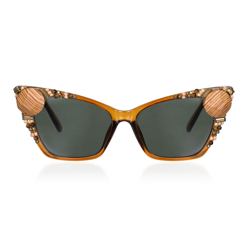 Timbuktu Wood Trimmed Sunglasses