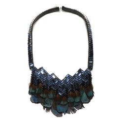 Bengal Chevron Feather Necklace - Suzanna Dai