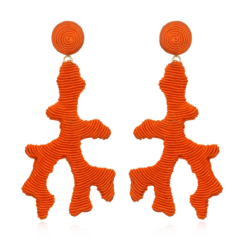 Seychelles Silk Coral Drop Earrings - Suzanna Dai