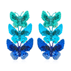Butterfly Large Drop Earrings - Suzanna Dai