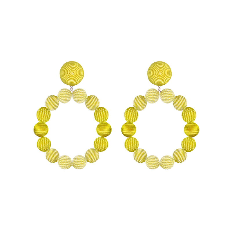 Silk Ombré Sardegna Hoop Earrings - Suzanna Dai