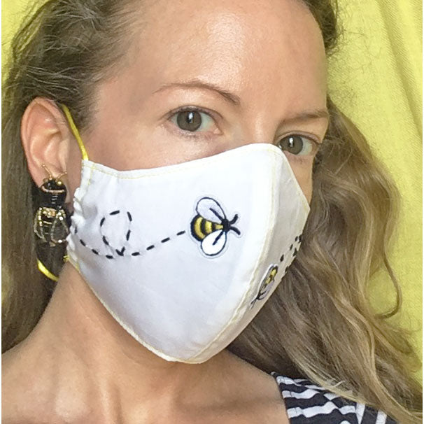 Woman's Embroidered Applique Face Mask - Suzanna Dai