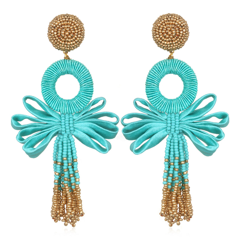 Beijing Mystic Looped Tassel Earrings - Suzanna Dai