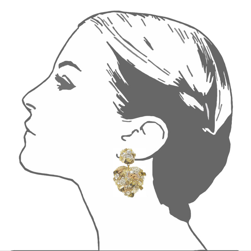 Sagrado Coraźon Drop Earrings - Suzanna Dai