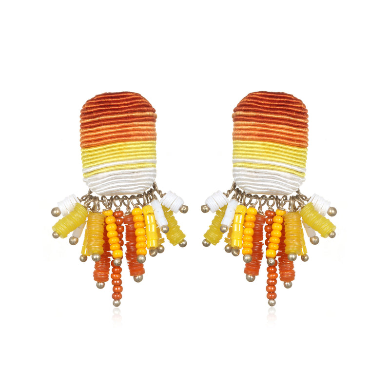 Saltillo Tassel Button Earrings - Suzanna Dai