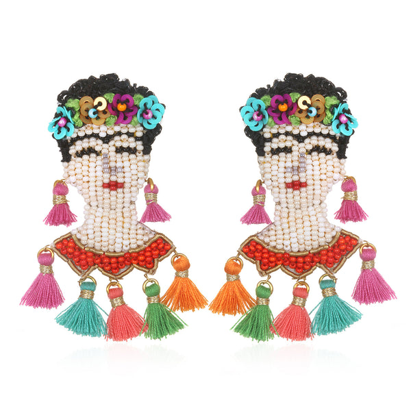 Frida Drop Earrings - Suzanna Dai