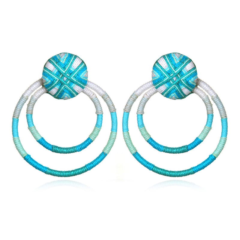 Guatemala Passementerie Double Hoop Earrings - Suzanna Dai