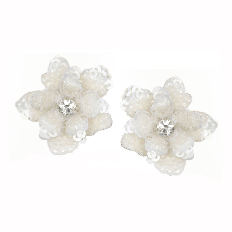 Oaxaca Flower Button Earrings - Suzanna Dai