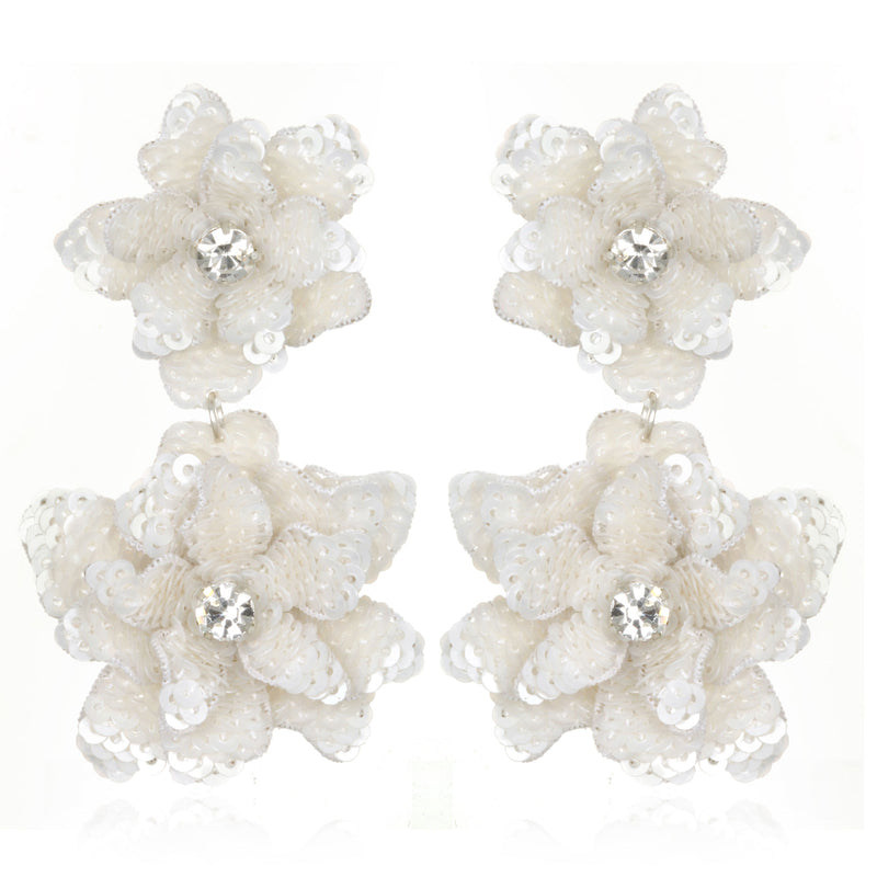 Oaxaca Flower Drop Earrings - Suzanna Dai