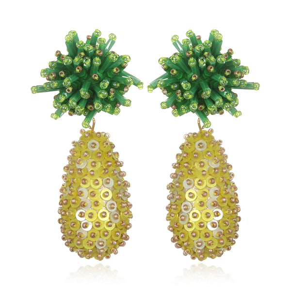 Piña Drop Earrings - Suzanna Dai
