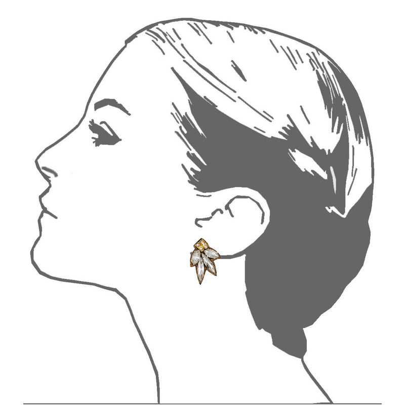 Chrysler Button Earrings - Suzanna Dai