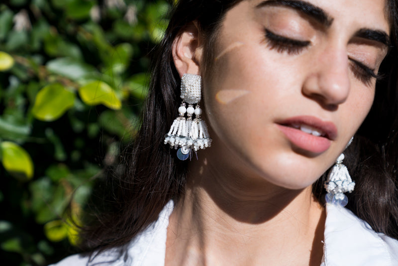 Jalisco Triple Tassel Earrings - Suzanna Dai