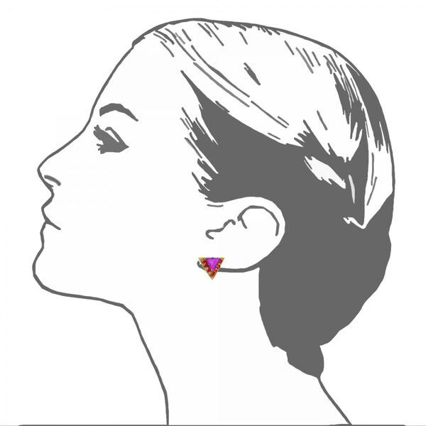Delta Stud Earrings - Suzanna Dai