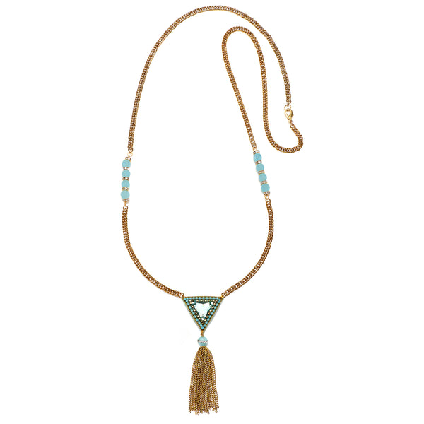 Trinidad Long Fringe Necklace - Suzanna Dai