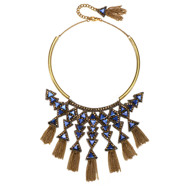 Trinidad Fringe Statement Necklace - Suzanna Dai