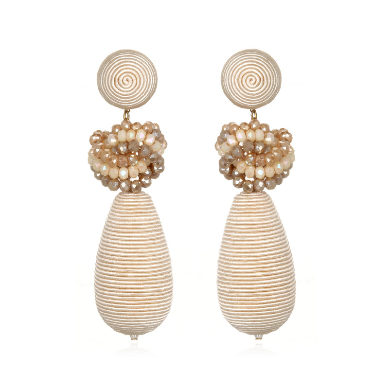 Imperial Bead-Knotted Teardrop Earrings - Suzanna Dai