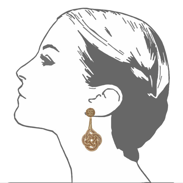 Chang'an Passementerie Knotted Drop Earrings