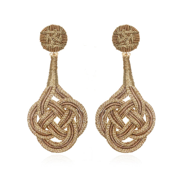 Chang'an Passementerie Knotted Drop Earrings - Suzanna Dai